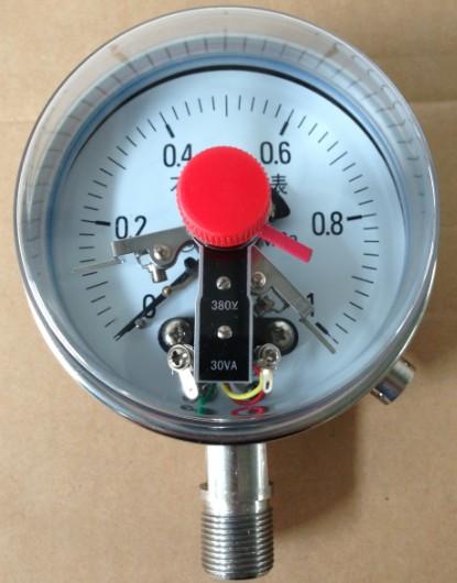 yⅩ一100电接点压力表接线图